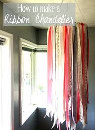 ribbon chandelier residential