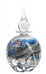 Dragonfly & Fauna reheat silver cameo <b>Bottle</b>   Opal white <b>core</b> with ...