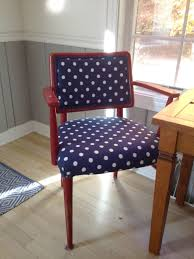 reupholster office chair. Darling Dots: How To Recover A Chair Reupholster Office