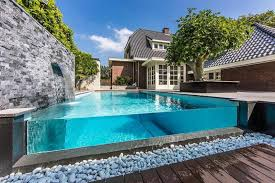 Decorative Rock Designs Modern Swimming Pool With Natural Rock Design For Small Backyard 91