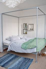 fantastic canopy bed frames design ideas 15 beds made from pipe to give your apartment chic