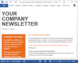 Free Newsletter Layout Templates Magnificent Free Company Newsletter Template For Word