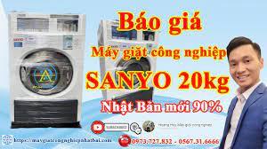 Báo giá máy giặt công nghiệp Sanyo 20kg cũ nhật bãi giá rẻ tại Hà Nội -  YouTube
