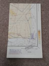 Sectional Aeronautical Chart Map Rapid City 1967 Map Lot 15
