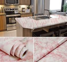 details about wide 122cm pink marble countertop vinyl granite look effect self adhesive