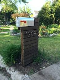 mailbox post plans. Modren Mailbox Double Mailbox Post Plans Modern Dark Walnut In Wood  And Mailbox Post Plans