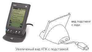Реферат Карманные ПК Операционная система palmos ru на рисунке показан ручной компьютер присоедененный к настольному ПК с помощью приставки крэдл