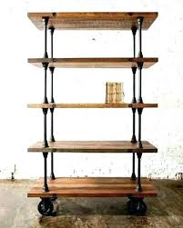 metal and wood wall shelves wood shelves with metal brackets a set two of 2 x