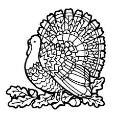 Small Picture Thanksgiving Day Turkey on Mozaic Coloring Page Download Print
