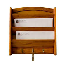 mdesign wall mount 2 tier mail letter