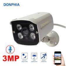 Ses Kayıt 3MP IP Kamera Açık Güvenlik Kamera H.265 + Su Geçirmez Ses Bulut  Gözetim Kamera Gece Görüş güvenlik kamerası|Gözetim Kameraları