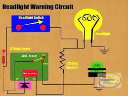how to connect headlight warning relay how to connect headlight warning relay