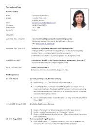 Format For Curriculum Vitae Gorgeous European Resume Template Curriculum Vitae European Format Word Model