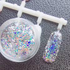 0.2g/box <b>Laser Glitter Galaxy Holo</b> Flake Rainbow Nail Art Sequins ...