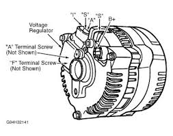 2002 ford ranger alternator wiring electrical problem 2002 ford Generator To Alternator Wiring Diagram measure voltage between ground and generator terminal b (black orange wire) if battery voltage is present, go to next converting generator to alternator wiring diagram