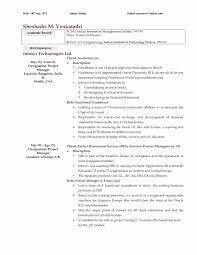 Mba Resume Sample Fresh Elegant Accountant Resume Template