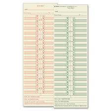 1276 Time Card For Cincinnati Lathem Simplex Acroprint Semi Monthly Box Of 500 Equivalent To Many Time Clock Manufacturers Time Cards By Tops