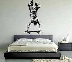 skateboard wall decals vinyl wall decal wall sticker skateboarder mural wallpaper for home wall art home