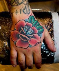 Rose Diamond Hand Tattoo Myke Chambers Tattoos By Myke Cha Flickr