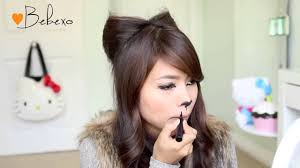 Cat Hair Style bebexo diy halloween costume ideas bear and cat ears hairstyle 5102 by wearticles.com