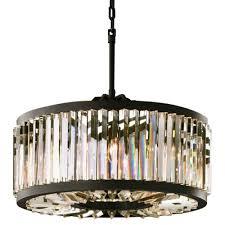 fumat american minimalist retro lamp round crystal glass pendant light size 50cm smoke gray