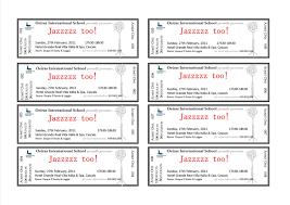 Publisher Ticket Template Rjengineeringnet 283095788405 Free