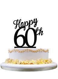 Amazoncom Acrylic Happy Birthday Cake Topper 60th Birthday Cake
