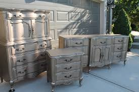 silver painted furniture. DIY Silver Furniture Finish   The Magic Brush Painted O