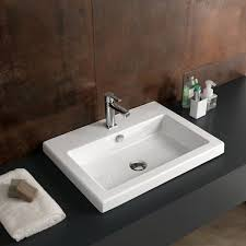 ceramica tecla cangas ceramic rectangular drop in bathroom sink with overflow reviews wayfair