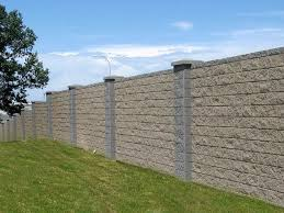 precast block fence panels