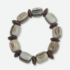 african fair trade jewelry recycled and wood bracelet elikplim