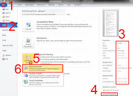 how to compare two ms word documents for plagiarism detection   1 file 2 info 3 view the properties this document looks like it had its privacy information removed you can use 4 to view even more image
