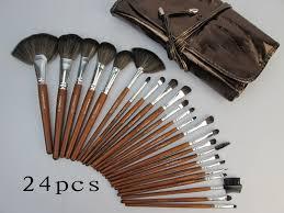 mac makeup brush set 24 piece face cosmetic brushes tool kits brown