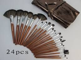 mac makeup brush set 24 piece face cosmetic brushes tool kits brown