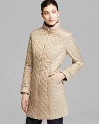 Lyst - Via spiga Coat Mid Length Camel Quilted in Metallic & Gallery. Previously sold at: Bloomingdale's · Women's Quilted Coats Adamdwight.com