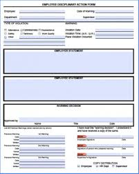 Form To Write Up An Employee Employee Write Up Form Pdf Free Example 2317