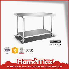 Kitchen Work Table On Wheels Stainless Steel Work Table With Wheels Stainless Steel Work Table