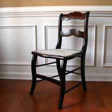 antique wood accent chair with caning desk boudoir dining chair gany brown white shabby chic furniture