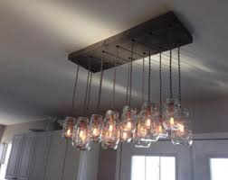 mason jar lighting fixture. diy mason jar chandelier barnwood lighting rustic wood vintage fixture