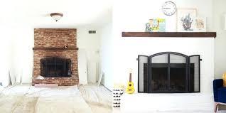 white painted brick fireplaces white painted brick fireplace surround