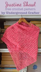 Free Shawl Crochet Patterns Fascinating Crochet Pattern Justine Shawl Underground Crafter