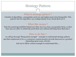 Strategy Pattern C Custom Strategy Pattern Using C