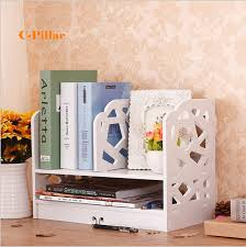 diy office shelves. Double Layer Multi Function Desktop Storage Rack DIY Magazine Holders Child Book Shelves Office Shelf Document Diy S
