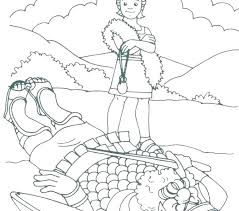 David And Goliath Coloring Page And Coloring Page Pages Bible Vs For