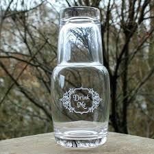 drink me bedside carafe and glass 2 piece set tumbler uk