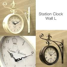 train station clocks double sided train station clocks for the wall novelty clock railway double sided