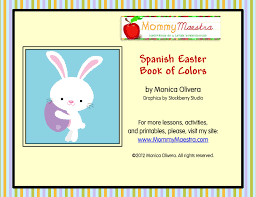 Mommy Maestra Easter Coloring Book In Spanish
