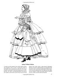 Small Picture Fashions of the Old South Colouring Book Dover Fashion Coloring