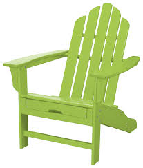hanover all weather adirondack chair with ottoman lime