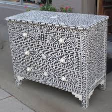Style 4045 Moroccan design camel bone inlay chest
